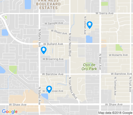 map of Van Ness Extension apartments for rent