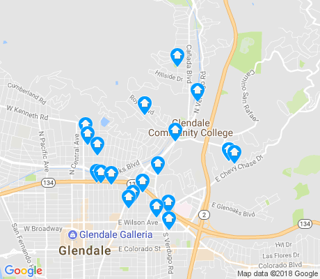 map of 91206 apartments for rent