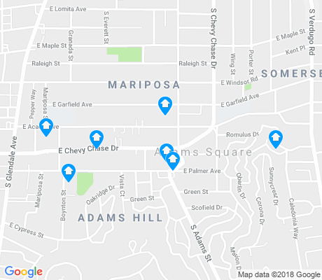 map of Adams Hill apartments for rent