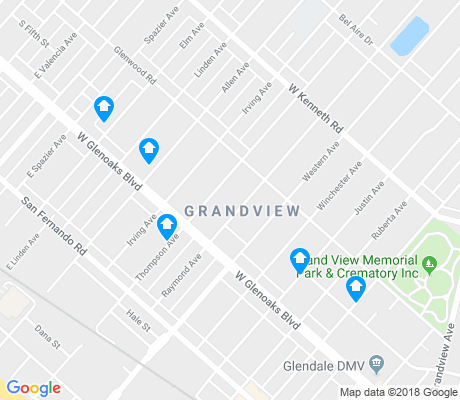 map of Grandview apartments for rent