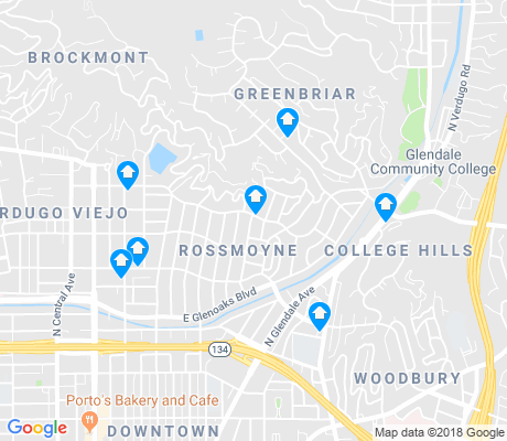map of Rossmoyne apartments for rent
