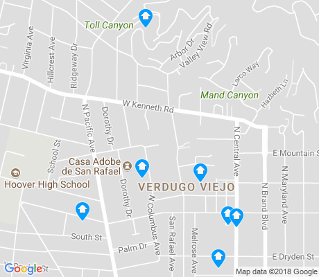 map of Verdugo Viejo apartments for rent