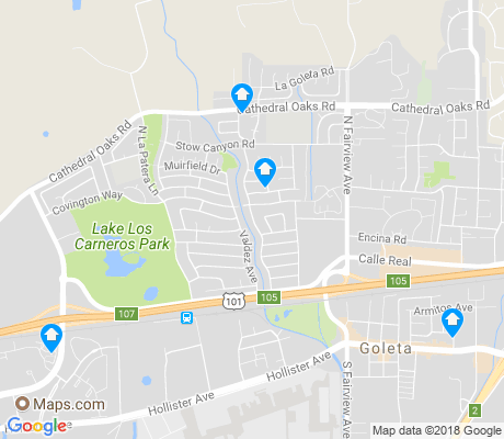 map of Goleta apartments for rent