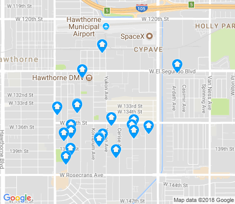 map of East Hawthorne apartments for rent