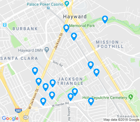 map of Jackson Triangle apartments for rent