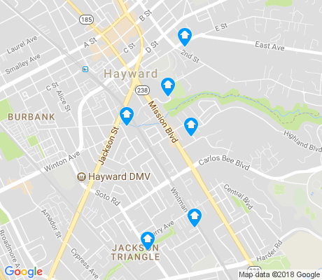 map of Mission-Foothill apartments for rent