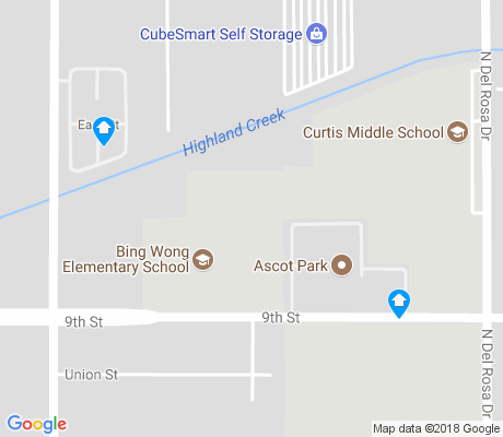 map of Curtis apartments for rent