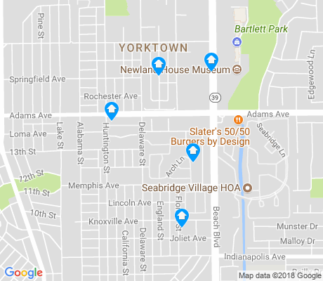 map of Yorktown apartments for rent