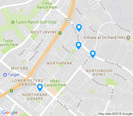 map of Northpark apartments for rent