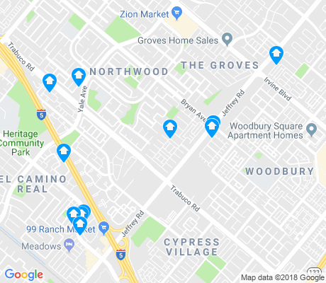 map of Northwood apartments for rent