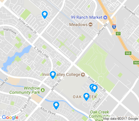 map of Oak Creek apartments for rent