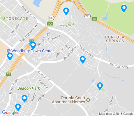 map of Portola Springs apartments for rent