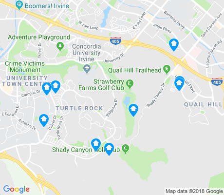 map of Turtle Rock apartments for rent