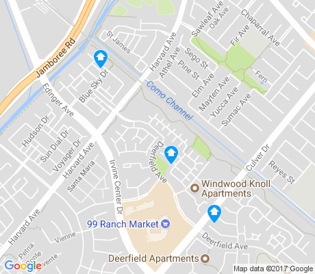 map of Walnut apartments for rent