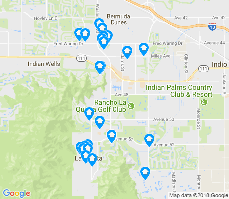 map of La Quinta apartments for rent