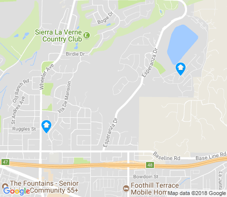map of North La Verne apartments for rent