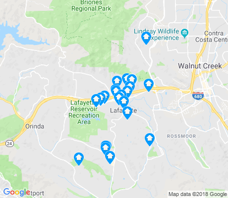 map of Lafayette apartments for rent