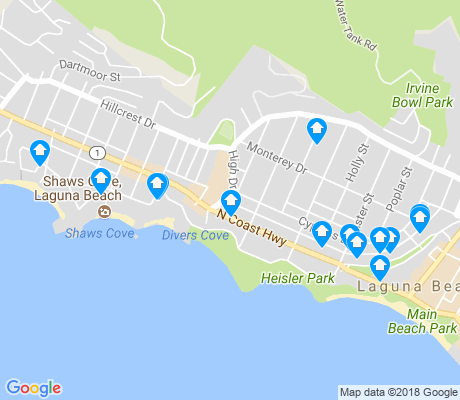 map of North Laguna apartments for rent