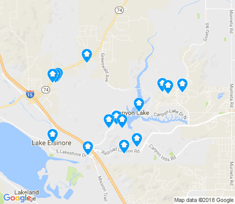 map of Lake Elsinore Hills District apartments for rent