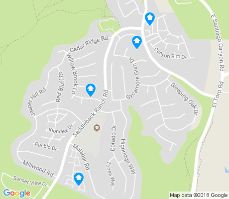 map of Portola Hills apartments for rent