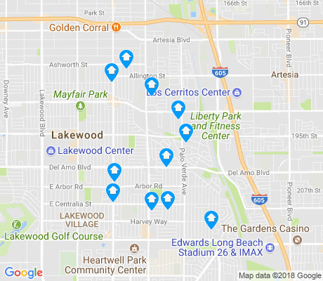 map of 90713 apartments for rent