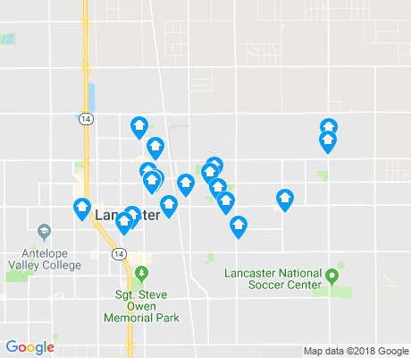 map of Lancaster apartments for rent