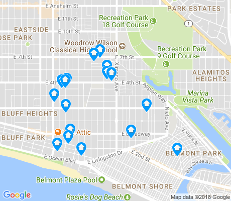 map of Belmont Heights apartments for rent