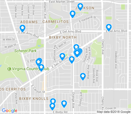 map of Bixby Knolls apartments for rent