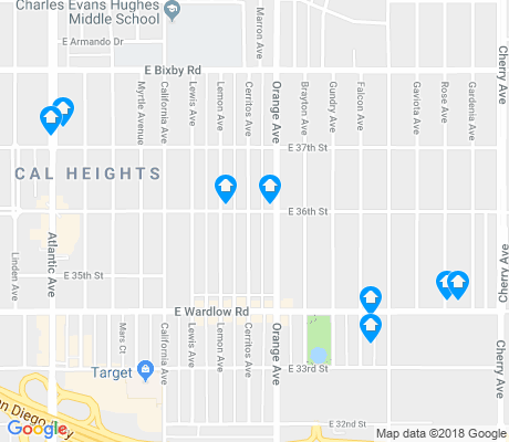 map of California Heights apartments for rent