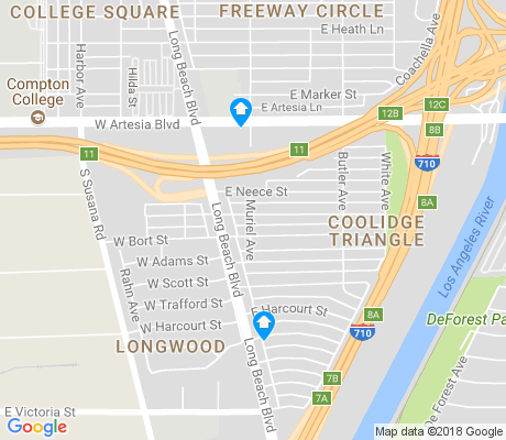 map of Coolidge Triangle apartments for rent