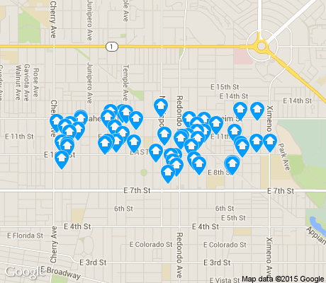 map of East Side apartments for rent