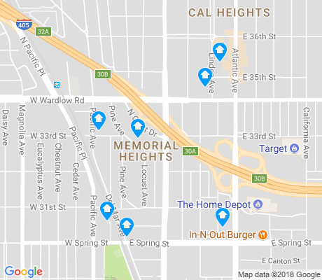 map of Memorial Heights apartments for rent