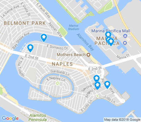map of Naples apartments for rent