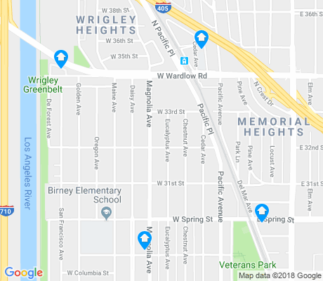 map of North Wrigley apartments for rent