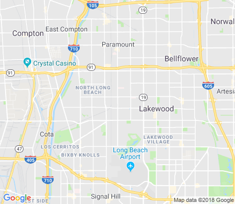 map of Paramount and South apartments for rent