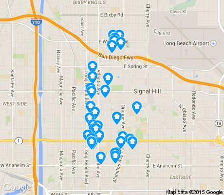 map of Poly High District apartments for rent