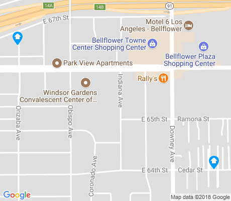 map of Ramona Park apartments for rent