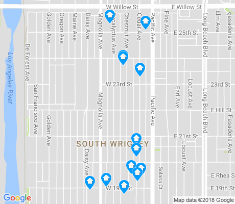 map of South Wrigley apartments for rent
