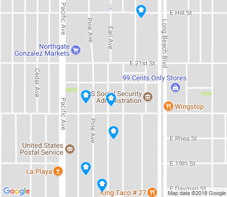 map of Southeast Wrigley apartments for rent