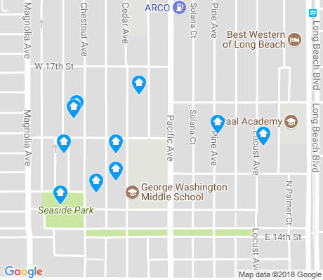 map of Washington School apartments for rent