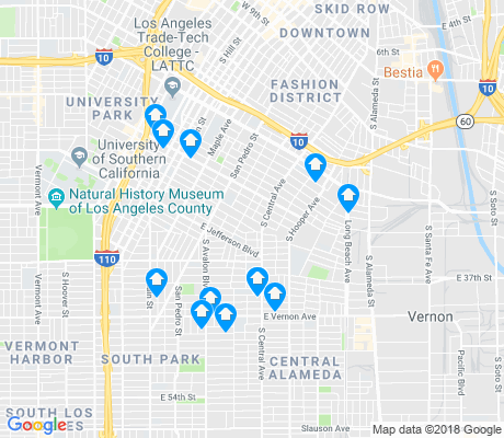 map of 90011 apartments for rent