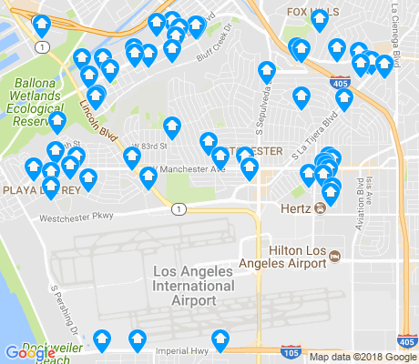 map of 90045 apartments for rent