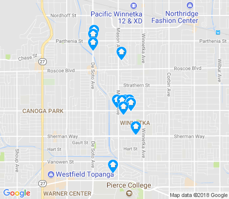 map of 91306 apartments for rent