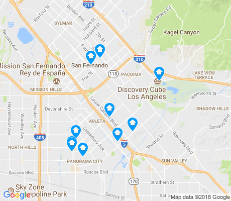 map of 91331 apartments for rent