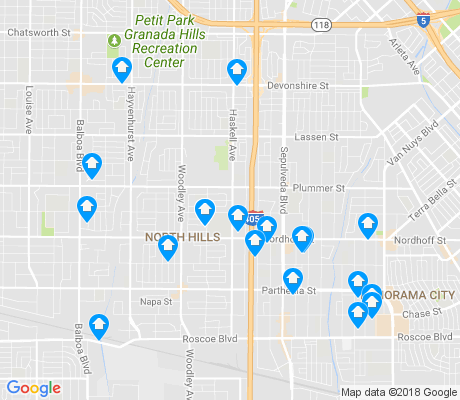 map of 91343 apartments for rent