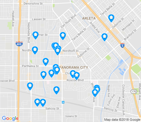 map of 91402 apartments for rent