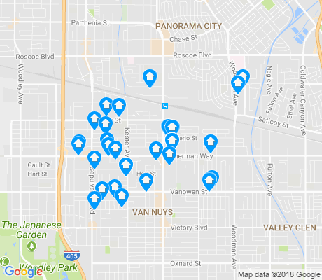 map of 91405 apartments for rent