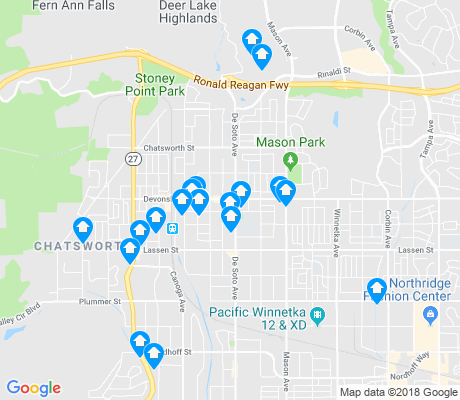 map of Chatsworth apartments for rent