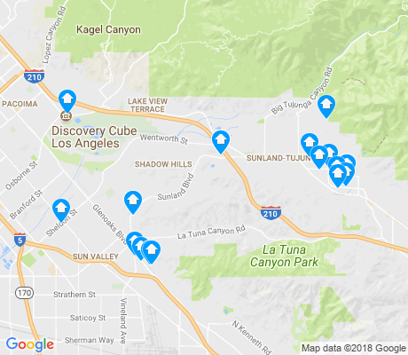map of Foothill Trails apartments for rent