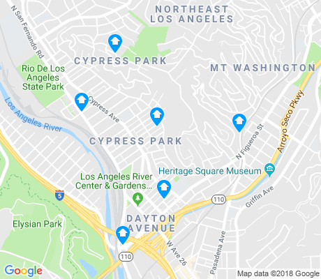 map of Greater Cypress Park apartments for rent